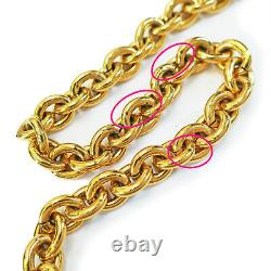 Rise-on CHANEL Gold Plated CC Logos Charm Vintage Chain Belt #135c