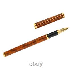 S. T. Dupont Paris Wooden Chinese Lacquer Gold Plated 5.5 Fountain Pen