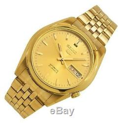 Seiko SNK366K1 Automatic Stainless Steel Gold Plated Casual Analog Men's Watch