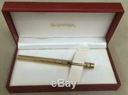 Sheaffer Targa 1007 gold plated Fountain Pen 14K Gold Fine nib NOS Very rare