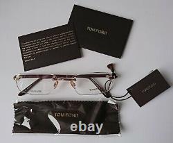 TOM FORD 5080 Men's eyeglasses frame GOLD PLATED (Made in Italy) NEW ORIGINAL