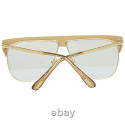 Tom Ford FT 0707 30G Yellow Gold Plated/ Mirrored Brown Lens Sunglasses New