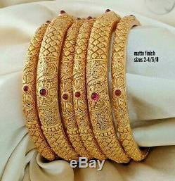 Traditional Micro Gold Plated Bangle Bracelet Indian Fashion Wedding Jewelery