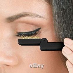 Tweezerman Folding Eyelash Comb Plated Teeth Beauty Spaced Metal Teeth Curlers