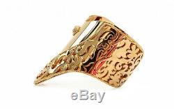 VERSACE 24K Gold Plated Metal Cuff Bracelet