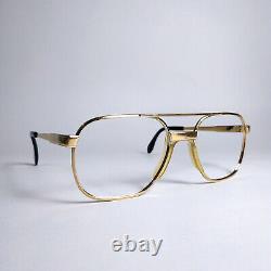 VINTAGE OVERSIZED Men's Eyewear. GOLD PLATED Glasses Frame 70s. Germany