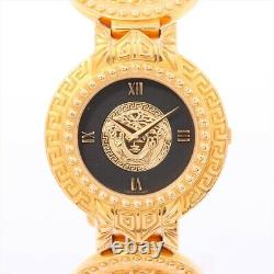 Versace Coin Watch 7008002 Gold Plated QZ Medusa Dial