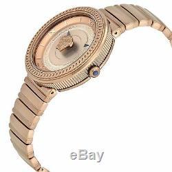 Versace VLC140017 Women's V-METAL ICON Rose Gold-Tone Quartz Watch