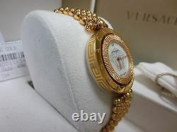 Versace Women 79Q80SD497 S080 Eon Two Rings Rose-Gold Plated Diamond Steel Watch