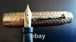 Vintage 1920`s 14 K Gold Plated MORRISON`S Fountain Pen Working Pump