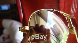 Vintage 1987 Ray-Ban B&L Gold Plated The General 50th Anniversary Aviator 58mm