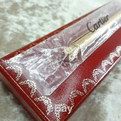Vintage Authentic must de Cartier Ballpoint Godron Gold Plated withBox(NEW SEALED)