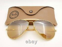 Vintage B&L Ray Ban Bausch & Lomb 62mm RB50 The General W0364 Outdoorsman withCase