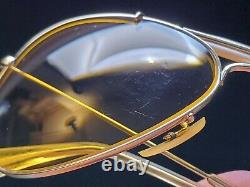 Vintage B&L Ray Ban Bausch & Lomb Ambermatic 58mm Outdoorsman Aviator withCase