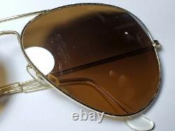 Vintage B&L Ray Ban Bausch & Lomb B15 TGM Gold Plated Aviator 62mm withCase