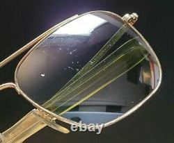 Vintage B&L Ray Ban Bausch & Lomb DGM Green 58mm Gold Plated Echelon withCase