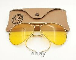 Vintage B&L Ray Ban Bausch & Lomb Outdoorsman Ambermatic 62mm Aviator withCase