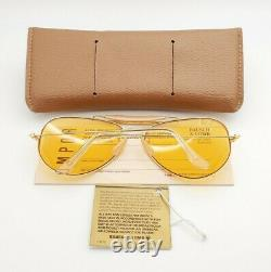 Vintage B&L Ray Ban Bausch & Lomb Outdoorsman Ambermatic 62mm Sunglasses withCase