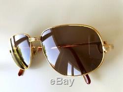 Vintage CARTIER ROMANCE sunglasses gold plated 54/16 Vendome Tank Santos Driver
