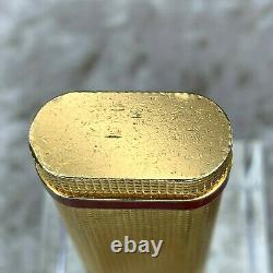Vintage Cartier Lighter 18K Gold Plated Pave Cut Texture Bordeaux Ring with No Box