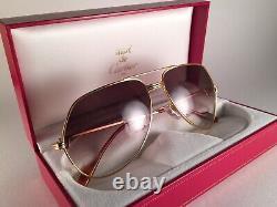 Vintage Cartier Vendome Medium 62mm Large! Sunglasses France 18k Gold Plated