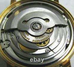 Vintage Eterna Matic 1000 14k Gold Plated Automatic Mens Watch 17j