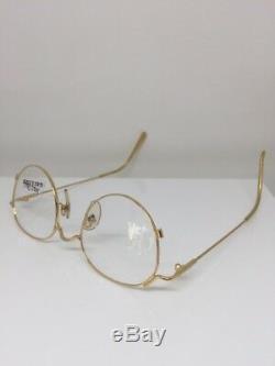 Vintage Jean Paul Gaultier JPG 55-2176 Eyeglasses GP Gold Plated Made in Japan
