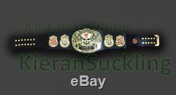 WWF Stone Gold Smoking Skull Champion Belt Metal Plates WWE Smoking Belt