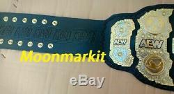 World AEW Championship Wrestling Belt Metal Brass Gold Plated 100% Leather 3mm