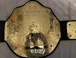 World Heavyweight Championship Leather Belt 2MM Brass Metal Plates