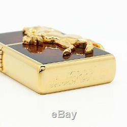 Zippo Oil Lighter Winning Winnie Horse Metal Gold Plated Deep Red Brass F/S