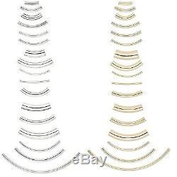 100 Tube Courbé Plaqué Métal Coude Noodle Perles En Vrac Bijoux En Plusieurs Tailles