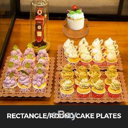 12pcs Gâteau Stand Plaque D'affichage Holder Petit Gâteau En Métal Avec Cristal De Soirée De Mariage