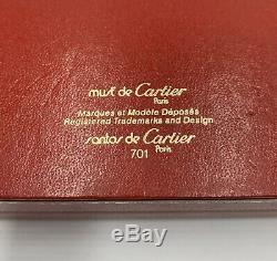 1980 Vintage Cartier Santos Plaqué Or Lunettes D'aviateur Lunettes De Soleil 62 140
