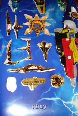 1997 Voltron Métal Moulé Wep Article N ° 30994 Avec Des Armes Plaquées Or