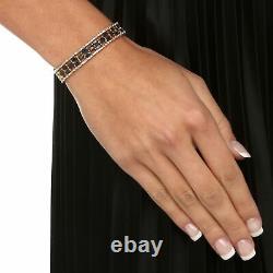 20.66 Tcw Véritable Saphir 14k Bracelet De Tennis Plaqué Or