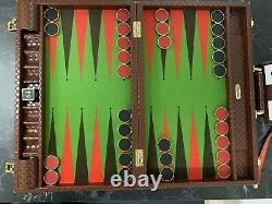 22 Contrôleurs En Métal Plaqués Backgammon De Taille Compétition Set&gold