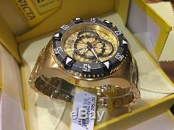 24266 Invicta Hommes Excursion 52mm Quartz Chronographe Plaqué Or Bracelet Montre
