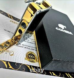 24k Or Plaqué Métal Cohiba Briquet Flamme Turbo Jet Cigare Punch Black Boxed Gt