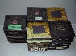 25 Pièce 1lb Amd Athlon Cpu Céramique Processeur Duron Récupération De L'or Sur Les 450g