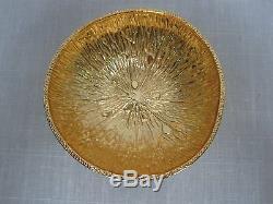 3 Michael Aram Plaqué Or Aluminium 4 1/4 Bols Citronnier