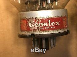 3 Tubes Vintage Genalex Gold Lion Kt-88 Bases En Métal Noir 6550 Tested