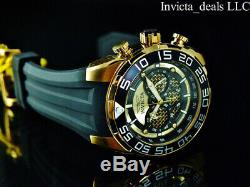50mm Speedway Invicta Metal Chronographe Twisted 18k Plaqué Or Ss Montre
