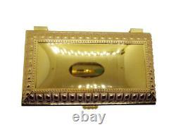 6.9 Grande Reliquière Relique Case Sanctifié Boîte Velours Plaqué Or