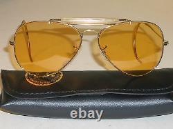60 Ans 58mm B&l Ray Ban Gp All-weather Ambermatic Shooing Aviateurs Sunglasses