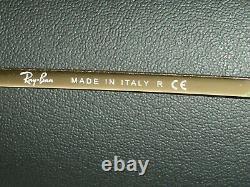 62mm Ray Ban Italie Rb3119 G15 Or Plaqué Olympien Flex Charnières Wraps Lunettes De Soleil