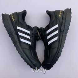 Adidas Ultra Boost Dna Leather Eg2043 Black White Gold Superstar Mens 9.5 Nouveau