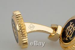 Alfred Dunhill Boutons De Manchette Plaqué Or Bijoux Design Hommes