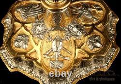Antique Plaqué Or Métal Et Laiton Calice. Probablement Espagnol, Début Du 20e Siècle