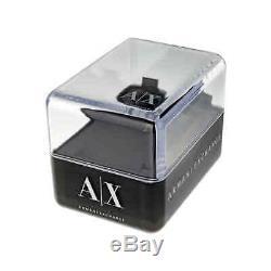 Armani Exchange Cadran Noir Chronographe Plaqué Or Unisexe Montre Ax2137